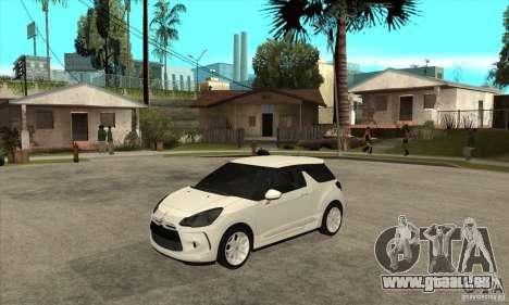 Citroen DS3 2010 pour GTA San Andreas
