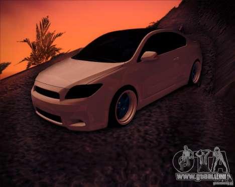Scion tC Blue Meisters für GTA San Andreas Unteransicht