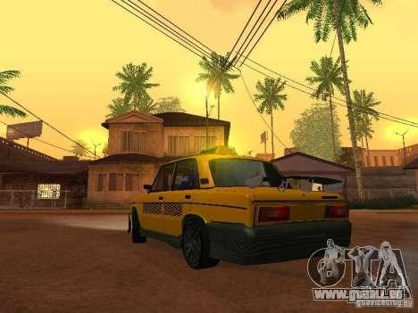 VAZ 2106 tuning Taxi pour GTA San Andreas laissé vue