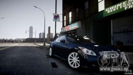 Infiniti G37 Coupe Sport pour GTA 4 Vue arrière de la gauche