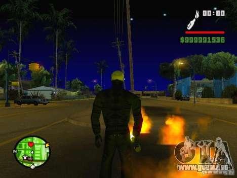 Ghost Ryder Skin pour GTA San Andreas deuxième écran