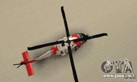 HH-60 Jayhawk USCG pour GTA San Andreas vue de droite