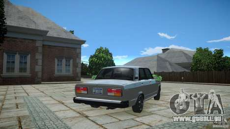 VAZ 2107 v1. 0 für GTA 4 hinten links Ansicht