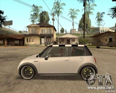 Mini Cooper pour GTA San Andreas sur la vue arrière gauche