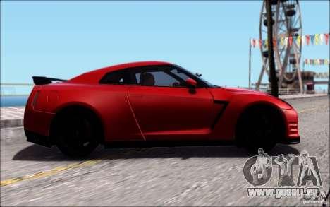 Nissan GTR 2011 Egoist (Version mit Schmutz) für GTA San Andreas Rückansicht