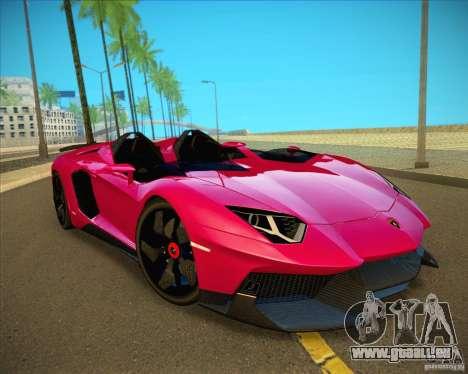Lamborghini Aventador J pour GTA San Andreas vue arrière
