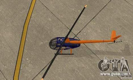 Robinson R44 Raven II NC 1.0 3 de la peau pour GTA San Andreas vue arrière