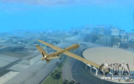 RQ9 Predator für GTA San Andreas zurück linke Ansicht
