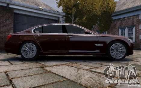 BMW 760Li 2011 pour GTA 4 est une vue de l'intérieur