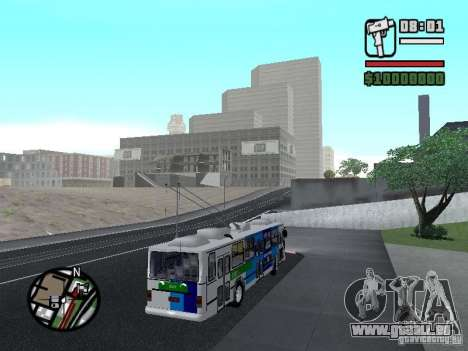 Cobrasma Monobloco Patrol II Trolerbus für GTA San Andreas rechten Ansicht