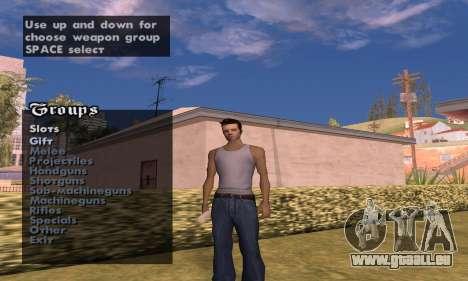 Weapon spawner pour GTA San Andreas