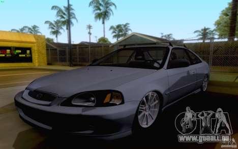 Honda Civic 1999 pour GTA San Andreas laissé vue
