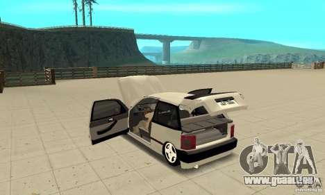 Fiat Tipo 2.0 16V 1995 pour GTA San Andreas vue intérieure