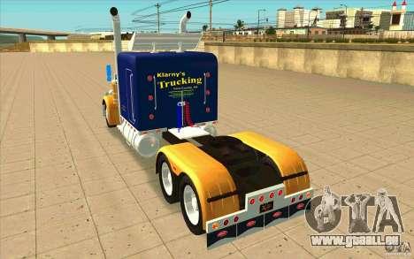 Peterbilt 359 Custom für GTA San Andreas zurück linke Ansicht