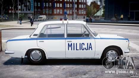 Fiat 125p Polski Milicja pour GTA 4 est une vue de l'intérieur