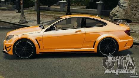 Mercedes-Benz C63 AMG 2012 pour GTA 4 est une gauche