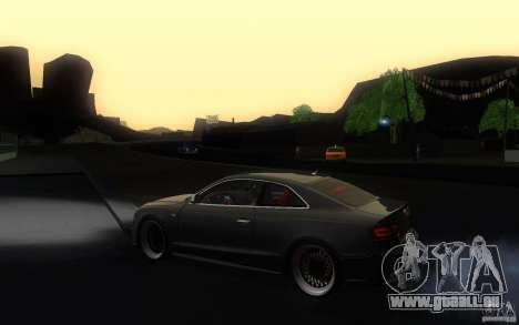 Audi S5 Black Edition für GTA San Andreas linke Ansicht