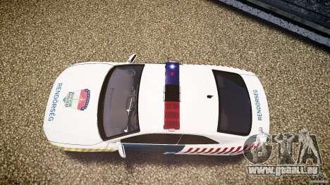 Audi S5 Hungarian Police Car white body pour GTA 4 est un droit