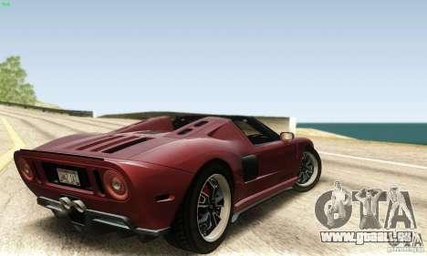 Ford GTX1 Roadster V1.0 pour GTA San Andreas laissé vue