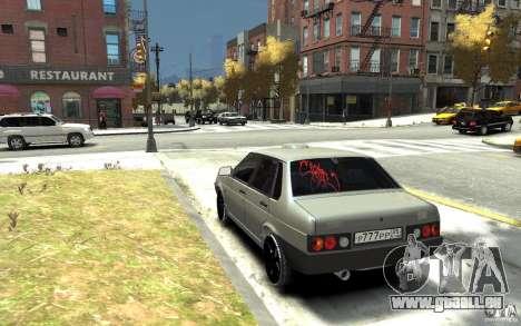 VAZ 21099 für GTA 4 hinten links Ansicht