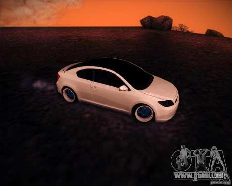 Scion tC Blue Meisters pour GTA San Andreas vue arrière