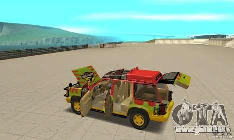 Ford Explorer (Jurassic Park) für GTA San Andreas obere Ansicht