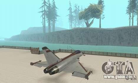 EF-2000 Typhoon V1.3 für GTA San Andreas Rückansicht
