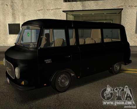 1961-1991 Barkas B1000 pour GTA San Andreas vue arrière