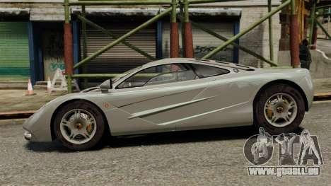 McLaren F1 1995 pour GTA 4 est une gauche