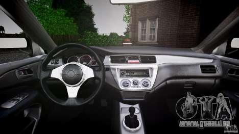 Mitsubishi Lancer Evolution VIII v1.0 pour GTA 4 est une vue de dessous