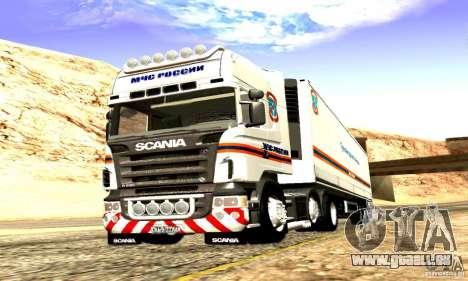 Scania R620 Emercom Romanow für GTA San Andreas Innenansicht