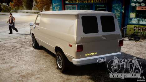 Chevrolet G20 Vans V1.1 pour GTA 4 Vue arrière de la gauche