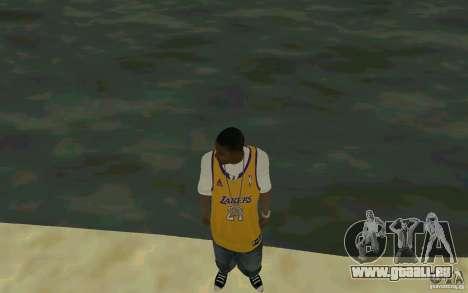 Afro-American HD skin pour GTA San Andreas deuxième écran