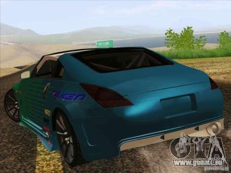 Nissan 350Z Falken Tire pour GTA San Andreas laissé vue