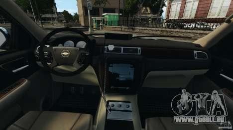 Chevrolet Tahoe LCPD SWAT pour GTA 4 Vue arrière