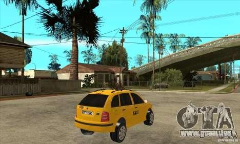 Skoda Fabia Combi Taxi pour GTA San Andreas vue de droite