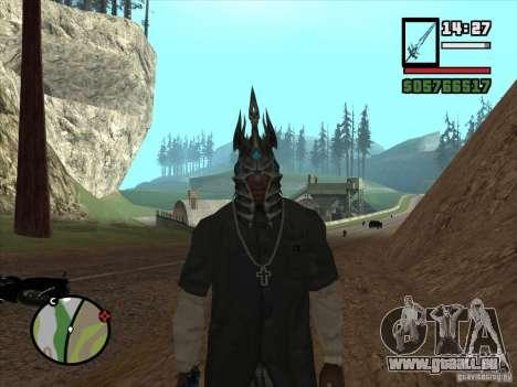 Casque Ner Zula pour GTA San Andreas deuxième écran