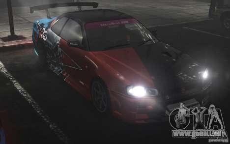 Nissan Skyline R34 Evil Empire pour GTA 4 Vue arrière de la gauche