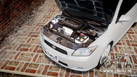 Toyota Scion tC 2.4 Stock pour GTA 4 est une vue de l'intérieur