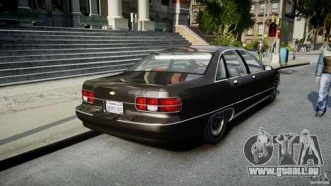 Chevrolet Caprice FBI v.1.0 [ELS] pour GTA 4 Vue arrière de la gauche