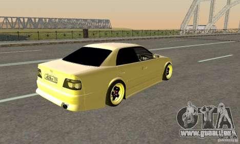 Toyoyta Chaser jzx100 pour GTA San Andreas laissé vue