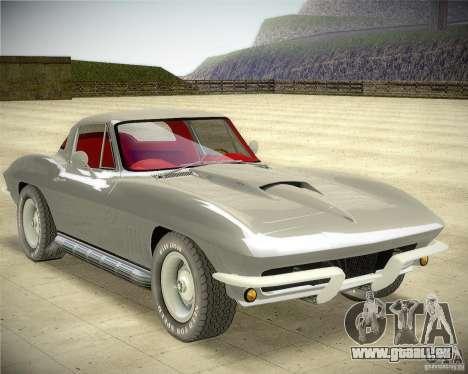 Chevrolet Corvette Stingray pour GTA San Andreas sur la vue arrière gauche