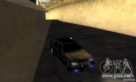 Mercedes-Benz W140 S600 Long Deputat Style pour GTA San Andreas vue arrière