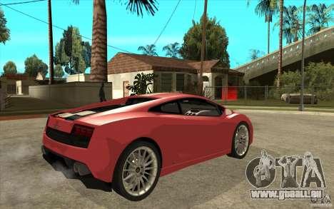 Lamborghini Gallardo LP550 Valentino Balboni pour GTA San Andreas vue de droite