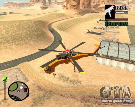 Skylift pour GTA San Andreas laissé vue