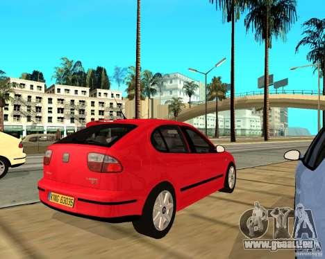 Seat Leon 1.9 TDI für GTA San Andreas rechten Ansicht