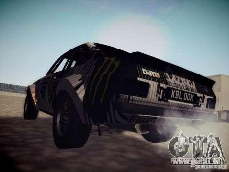 Ford Escort MK2 Gymkhana für GTA San Andreas zurück linke Ansicht