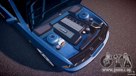 BMW 530I E39 e63 white wheels pour GTA 4 est une vue de dessous