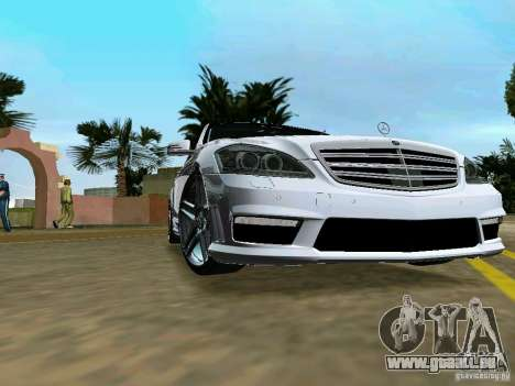 Mercedes-Benz S65 AMG 2012 pour GTA Vice City sur la vue arrière gauche