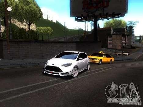 Ford Focus 2012 ST für GTA San Andreas zurück linke Ansicht